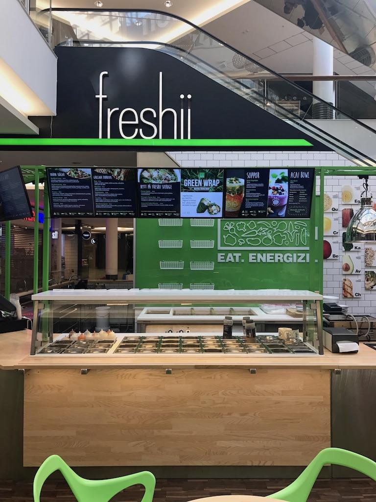 Café och restaurang i Köpcentrum