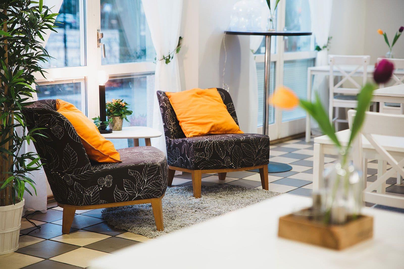 Välinarbetat café' i centrala Stockholm