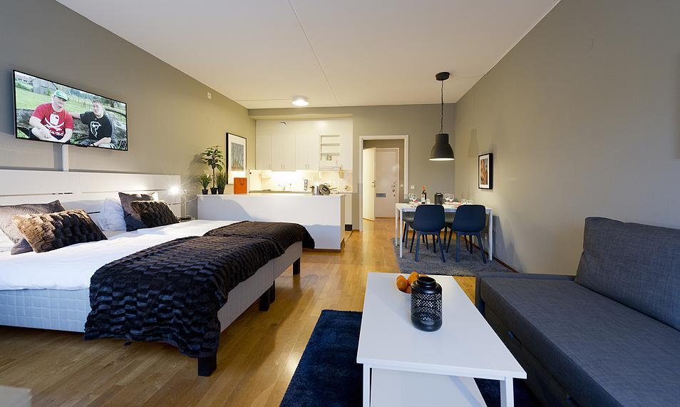 Lägenhetshotell i Skärholmens centrum